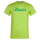 Lime Green T Shirt-Script Bears
