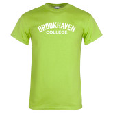 Lime Green T Shirt-Arched Brookhaven College