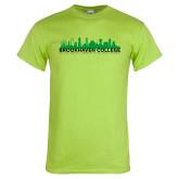 Lime Green T Shirt-Dallas Skyline