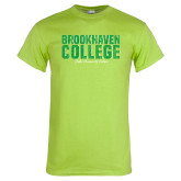 Lime Green T Shirt-Block Distressed