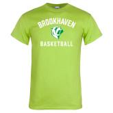 Lime Green T Shirt-Basketball