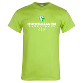 Lime Green T Shirt-Basketball Stacked