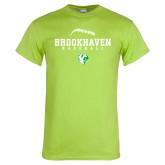 Lime Green T Shirt-Baseball Seams