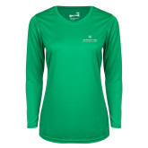 Ladies Syntrel Performance Kelly Green Longsleeve Shirt-Primary Mark