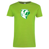 Ladies Lime Green T Shirt-Athletic Mark