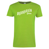 Ladies Lime Green T Shirt-Fancy Script
