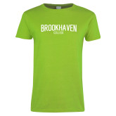 Ladies Lime Green T Shirt-Squeeze Text