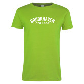 Ladies Lime Green T Shirt-Arched Brookhaven College