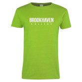 Ladies Lime Green T Shirt-Brookhaven College