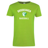 Ladies Lime Green T Shirt-Baseball