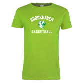 Ladies Lime Green T Shirt-Basketball