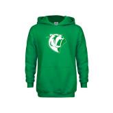 Youth Kelly Green Fleece Hoodie-Athletic Mark