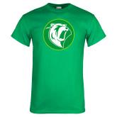 Kelly Green T Shirt-Bear in Circle