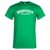Kelly Green T Shirt-Arched Brookhaven College