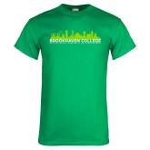 Kelly Green T Shirt-Dallas Skyline