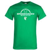 Kelly Green T Shirt-Soccer Half Ball