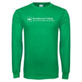 Kelly Green Long Sleeve T Shirt-Primary Mark - Horizontal