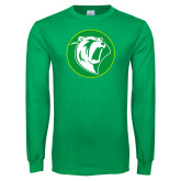 Kelly Green Long Sleeve T Shirt-Bear in Circle