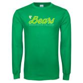 Kelly Green Long Sleeve T Shirt-Script Bears
