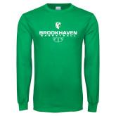 Kelly Green Long Sleeve T Shirt-Basketball Stacked
