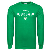 Kelly Green Long Sleeve T Shirt-Baseball Seams