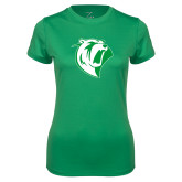 Ladies Syntrel Performance Kelly Green Tee-Athletic Mark