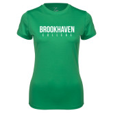 Ladies Syntrel Performance Kelly Green Tee-Brookhaven College