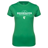 Ladies Syntrel Performance Kelly Green Tee-Abstract Volleyball
