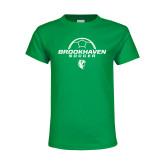 Youth Kelly Green T Shirt-Soccer Half Ball