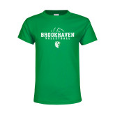 Youth Kelly Green T Shirt-Abstract Volleyball