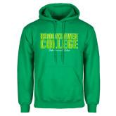 Kelly Green Fleece Hoodie-Block Distressed