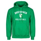 Kelly Green Fleece Hoodie-Volleyball
