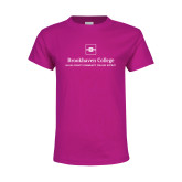 Youth Cyber Pink T Shirt-Primary Mark