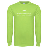 Lime Green Long Sleeve T Shirt-Primary Mark