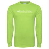 Lime Green Long Sleeve T Shirt-Primary Mark - Horizontal
