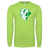 Lime Green Long Sleeve T Shirt-Athletic Mark