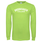 Lime Green Long Sleeve T Shirt-Arched Brookhaven College