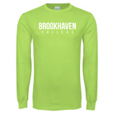 Lime Green Long Sleeve T Shirt-Brookhaven College