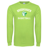 Lime Green Long Sleeve T Shirt-Basketball