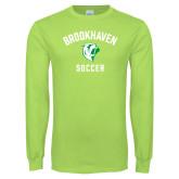 Lime Green Long Sleeve T Shirt-Soccer
