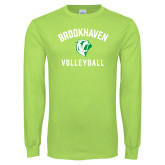 Lime Green Long Sleeve T Shirt-Volleyball