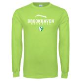 Lime Green Long Sleeve T Shirt-Baseball Seams
