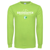 Lime Green Long Sleeve T Shirt-Abstract Volleyball
