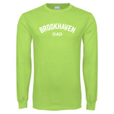 Lime Green Long Sleeve T Shirt-Dad