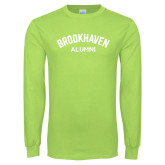 Lime Green Long Sleeve T Shirt-Alumni