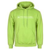 Lime Green Fleece Hoodie-Primary Mark - Horizontal