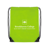 Lime Green Drawstring Backpack-Primary Mark