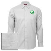 Red House White Diamond Dobby Long Sleeve Shirt-Bear in Circle