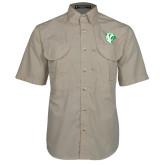 Khaki Short Sleeve Performance Fishing Shirt-Athletic Mark