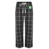 Black/Grey Flannel Pajama Pant-Bear in Circle
